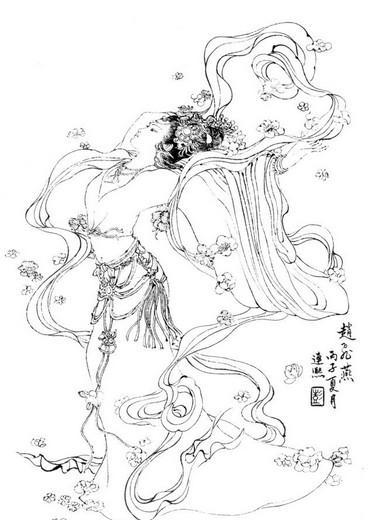杨玉环动漫人物手绘